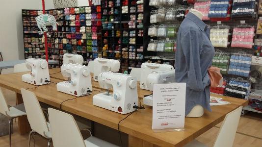 cours de couture chez Mondial Tissus