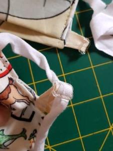 masques covid en tissu avec réglage